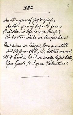 Christina Rossetti Famous Poems | Hand-written poem by Christina ...