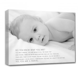 Custom Canvas 16X20 Childs Photo With Words and Sayings