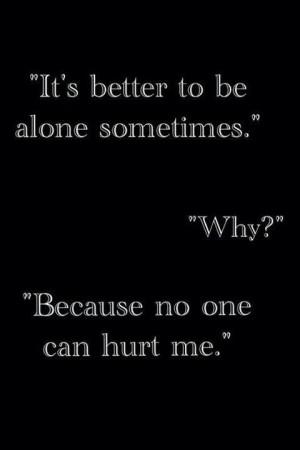 Better alone?