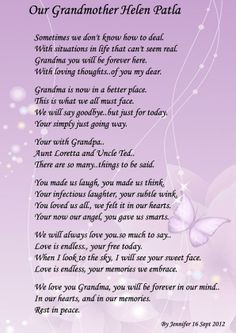 ... ll be saying at my Grandmother's funeral - Post & Critique Poetry More
