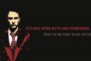 Fight Club inspirational quotes text wallpaper