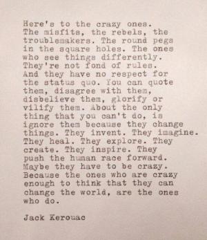 Jack Kerouac Heres To The Crazy Ones