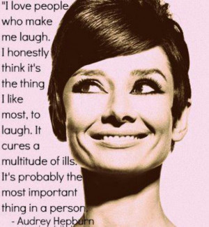 Laughing Audrey Hepburn - such a classy lady