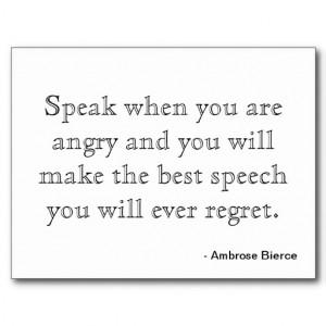 Postcard Motivation - Anger