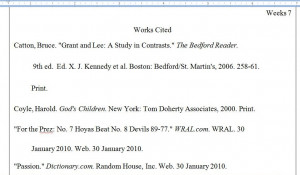 MLA Formatting, Quote Citations, and Works Cited