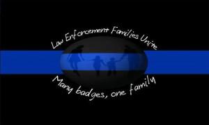 Law Enforcement Families Unite Signature Sticker Car Decal, Thin Blue ...