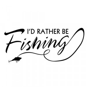 Rather be Fishing - Stickers Decals