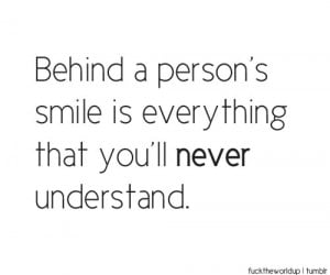 hiding behind a smile quotes