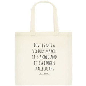 Lyrics Tote Bag - Book Bag - Love Quote - Book Bag - Shopping Bag ...