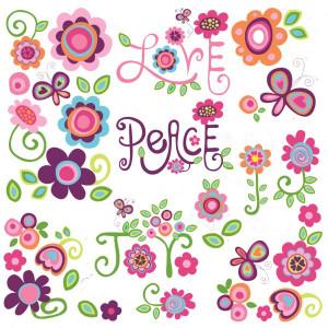 Love Peace Joy Wall Stickers