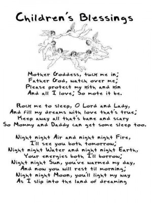 bedtime blessing for pagan children