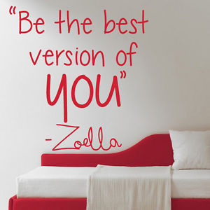 Details about Zoella ''Be the Best version of you'' Quote Wall Sticker ...