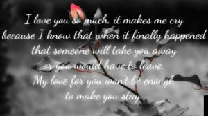 sad love quotes that make you cry for her