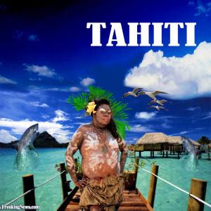 Funny Tahiti Tourism Poster