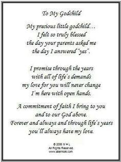 ... gifts baby girl goddaughter poem godchild gift godchildren quotes