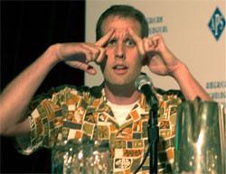 Pete Docter of Pixar demonstrates how he and other animators ...