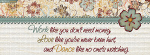 Cute Quote Facebook Cover Preview