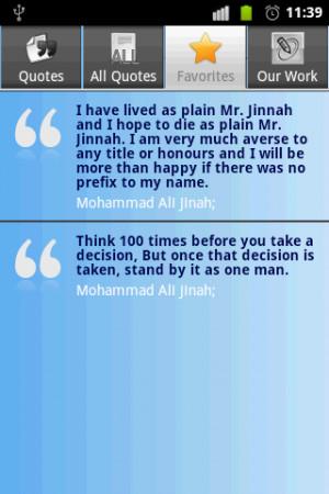 Muhammad Ali Jinnah Quotes screenshot 4