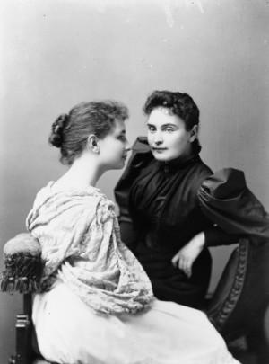 Helen Keller and Anne Sullivan in 1893