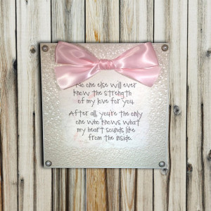Mom and Baby Love/Bond Quote Plaque 8x8 by lovingLeighYours, $26.00