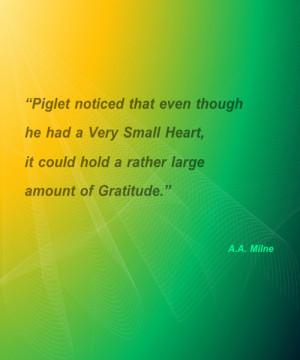 Large Amount Of Gratitude – Friendship Quote