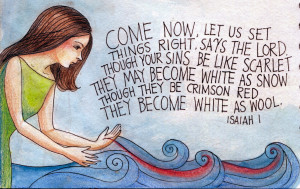 Come Now, Let Us Set Things Right: Prayer Journal Illustration