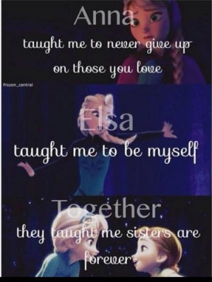 Sisters Are Forever - frozen Photo