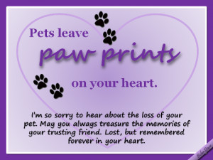 Pets Leave Paw Prints On Your Heart.