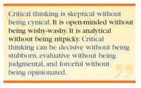 Facione: Critical Thinking Is Quote