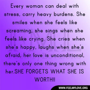 Every woman can deal with stress