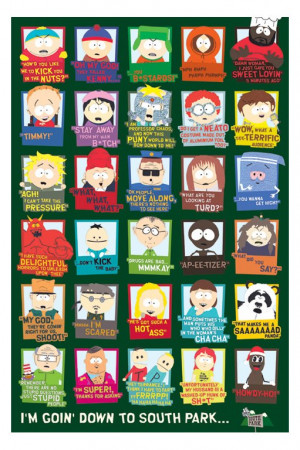 posters cartoon posters south park quotes poster 24 x 36