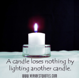 candle loses nothing by lighting another candle