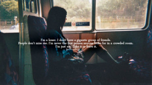 alone, lonely, loner, quote, text, typography