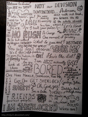 My favourite quotes from Sherlock Series 1 and 2 by Trilly21