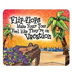 Suzy Toronto Flip Flops Mouse Pad