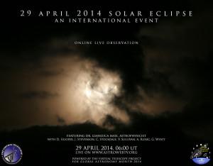 29 April 2014: Partial Solar Eclipse – live event, online!