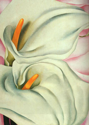 Two Calla Lily on Pink, 1928 by Georgia O'Keeffe