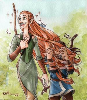 Elf the hobbit fili kili elves dwarf dwarves tauriel