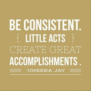 have trouble being consistent with sticking to my goals sometimes! # ...