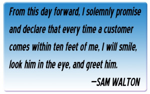 Sam Walton Ten Foot Rule