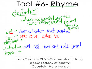 Tool #6: Rhyme and Form #1: Couplets (Post #9)