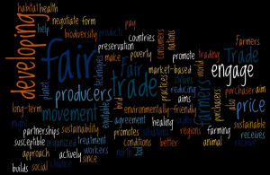 ... to generate my own definition of fair trade for today's PGC challenge