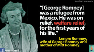 mitt s mom lenore romney recounting the romney family history