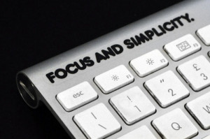 Quote Steve Jobs - Focus and Simplicity - Apple mac sticker