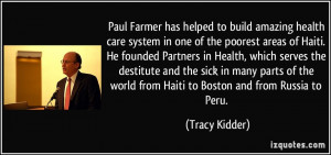 build amazing health care system in one of the poorest areas of Haiti ...