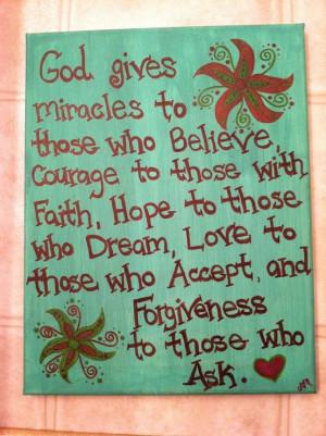 God gives miracles...