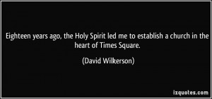 Eighteen years ago, the Holy Spirit led me to establish a church in ...
