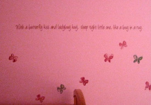 Girls Room Butterfly & Bug Quote