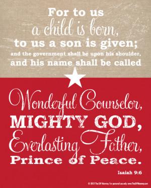 Free Christmas Bible Verse Wall Art Printable (& Our Christmas Tree ...