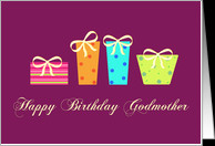 Happy Birthday Godmother card - Product #133626